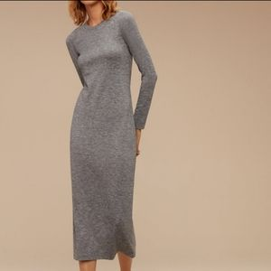 Wilfred Free Gray Midi Dress